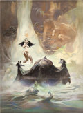 Original Comic Art:Paintings, Frank Frazetta At The Earth's Core Paperback Cover Painting Original Art (1974)....