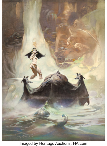 Fantasy Book Cover Art For Sale ~ Frank frazetta heritage auctions