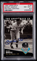 Baseball Cards:Singles (1970-Now), Signed 1994 Upper Deck All-Time Heroes Mickey Mantle #100 PSA NM-MT+ 8.5....