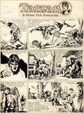 Original Comic Art:Comic Strip Art, Burne Hogarth Tarzan Sunday Comic Strip #930 Original Art dated 1-2-49 (United Feature Syndicate, 1949)....