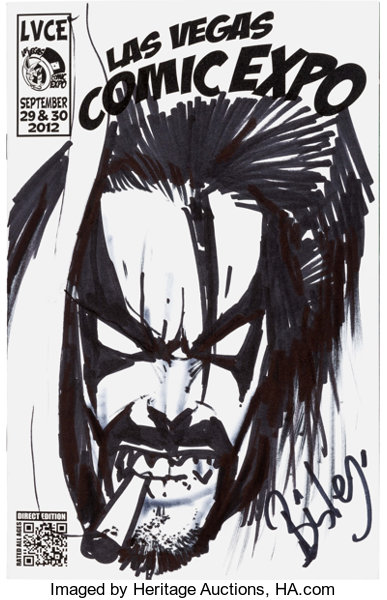 Simon Bisley Las Vegas Comic Expo Souvenir Book with Lobo