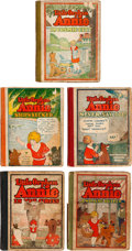 Platinum Age (1897-1937):Miscellaneous, Little Orphan Annie Hardcover Group of 5 (Dell, 1920s) Condition: Average GD.... (Total: 5 Comic Books)