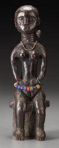 Tribal Art, EWE, Togo. Seated Female Figure ...