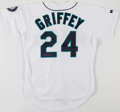Baseball Collectibles:Uniforms, Ken Griffey Jr. Signed Seattle Mariners Jersey....