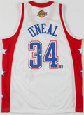 Basketball Collectibles:Uniforms, Shaquille O'Neal Signed Western Conference All Stars Jersey....