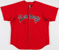 Baseball Collectibles:Uniforms, 2005 Jon Lester Game Worn, Signed Portland Sea Dogs Jersey - With Team LOA....