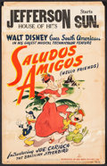 "Movie Posters:Animation, Saludos Amigos (RKO, 1942). Window Card (14"" X 22""). Animation....."