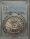 Mexico, Mexico: Republic 8 Reales 1855 Ca-RG UNC Details (Cleaning)PCGS,...