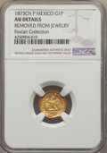 Mexico, Mexico: Republic gold Peso 1873 Cn-P AU Details (Removed fromJewelry) NGC,...