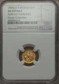 Mexico, Mexico: Republic gold Peso 1888 Go-R AU Details (Surface Hairlines)NGC,...