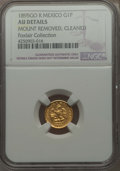 Mexico, Mexico: Republic gold Peso 1895 Go-R AU Details (Mount Removed,Cleaned) NGC,...