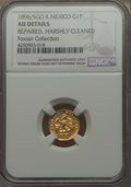 Mexico, Mexico: Republic gold Peso 1896/5 Go-R AU Details (Repaired,Harshly Cleaned) NGC,...