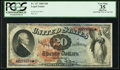 Large Size:Legal Tender Notes, Fr. 127 $20 1869 Legal Tender PCGS Apparent Very Fine 35.. ...