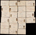 Baseball Collectibles:Others, Signed Early 1950's Baseball Players Govt. Post Card Collection(22). ...