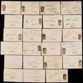 Baseball Collectibles:Others, Signed Early 1950's Baseball Players Govt. Post Card Collection(23). ...