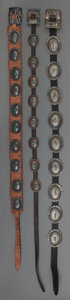 American Indian Art:Jewelry and Silverwork, Three Navajo Silver Concho Belts. c. 1950. ... (Total: 3 Items)