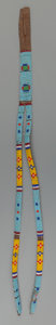 American Indian Art:Beadwork and Quillwork, A Crow Beaded Hide Belt Drop...