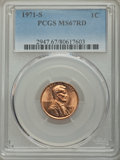 Lincoln Cents, 1971-S 1C MS67 Red PCGS. PCGS Population (26/0). NGC Census: (30/0). Mintage: 525,133,472. Numismedia Wsl. Price for proble...