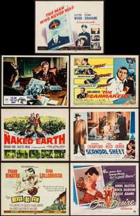 "Never So Few & Others Lot (MGM, 1959). Title Lobby Cards (6) (11"" X 14"") & Italian Lobby Card (10.75&q..."