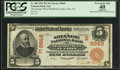 National Bank Notes:Pennsylvania, Troy, PA - $5 1902 Red Seal Fr. 589 The Grange NB of Bradford County Ch. # (E)8849. ...