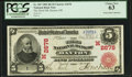 National Bank Notes:Ohio, Dayton, OH - $5 1902 Red Seal Fr. 587 The Third NB Ch. # (M)2678. ...