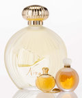 Art Glass:Lalique, Three Lalique for Nina Ricci Frosted and Clear Glass Perfume Bottles: Nina by Nina & L'Air du Temps Necklace... (Total: 3 Items)