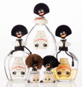 Art Glass:Other , Five Vigny Golliwogg Perfume Bottles, circa 1920. 6 incheshigh (15.2 cm) (tallest). A PERFUME BOTTLE COLLECTI... (Total: 5Items)