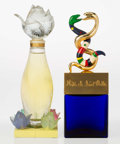 Art Glass:Lalique, Two Glass and Gilt Metal Factice: Niki de Saint Phalle &Lalique Nilang, circa 1980. 15-1/4 inches h... (Total: 2Items)