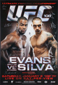 Miscellaneous Collectibles, UFC 108 Official Card Signed Poster. ...