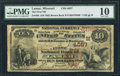 National Bank Notes:Missouri, Lamar, MO - $10 1882 Brown Back Fr. 484 The First NB Ch. # (M)4057. ...