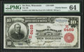 National Bank Notes:Wisconsin, De Pere, WI - $10 1902 Red Seal Fr. 613 The NB of De Pere Ch. # (M)6469. ...