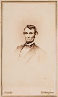 Photography:CDVs, Abraham Lincoln: Rare Berger Carte-de-Visite....