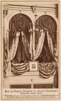 Photography:CDVs, Abraham Lincoln Assassination: Ford's Theatre Presidential Box....