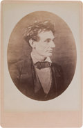 Photography:Cabinet Photos, Abraham Lincoln: Cabinet Card of 1857 Portrait....
