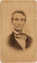 Photography:CDVs, Abraham Lincoln: Copy Image of 1858 Ambrotype Portrait....
