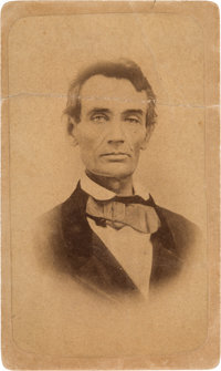 Abraham Lincoln: Copy Image of 1858 Ambrotype Portrait