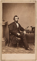 Photography:CDVs, Abraham Lincoln: Inkwell Pose Carte-de-Visite....