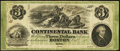 Obsoletes By State:Massachusetts, Boston, MA- Continental Bank $3 Oct. 18__ G6a. ...