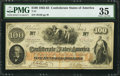 "Confederate Notes:1862 Issues, Manuscript Endorsement ""Wm. J. Ferguson"" T41 $100 1862 PF-22 Cr.320A.. ..."