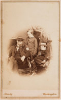 Photography:CDVs, [Abraham Lincoln]: Willie, Tad and Lockwood Todd Carte-de-Visite....