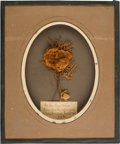 Political:Memorial (1800-present), Abraham Lincoln: Dried Flowers From His Coffin....
