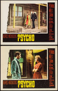 "Movie Posters:Hitchcock, Psycho (Paramount, 1960). Lobby Cards (2) (11"" X 14""). Hitchcock.. ... (Total: 2 Items)"