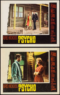 """Psycho (Paramount, 1960). Lobby Cards (2) (11"""" X 14""""). Hitchcock. ... (Total: 2 Items)"""