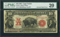 Error Notes:Large Size Errors, Fr. 121 $10 1901 Mule Legal Tender PMG Very Fine 20.. ...