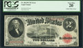 Error Notes:Large Size Errors, Fr. 60 $2 1917 Legal Tender PCGS Very Fine 20.. ...