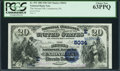 National Bank Notes:Pennsylvania, Uniontown, PA - $20 1882 Date Back Fr. 552 The Second NB Ch. # (E)5034. ...