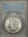 Morgan Dollars: , 1891 $1 MS64+ PCGS. PCGS Population (1967/164 and 109/6+). NGC Census: (1186/111 and 21/2+). Mintage: 8,694,206. Numismedia...