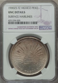 Mexico, Mexico: Republic Peso 1900 Zs-FZ UNC Details (Surface Hairlines)NGC,...