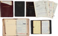 Movie/TV Memorabilia:Documents, A Mae West Group of Address Books, 1940s-1970s....