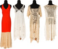 Movie/TV Memorabilia:Costumes, A Mae West Group of Lace Clothing, Circa 1920s-1930s.... (Total: 4 Items)